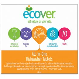 Ecover Dishwash Tablets - All In One - 70 Tablets