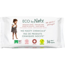 Eco by Naty Unscented Wipes - Pack Of 56
