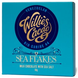 Willies Cacao Sea Flake - Milk Chocolate with Sea Salt Bar - 50g