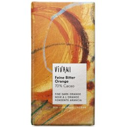 Vivani Organic Dark Chocolate & Orange - 100g