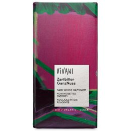 Vivani Organic Dark Chocolate & Whole Hazelnuts - 100g