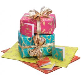 Peacock & Butterfly Gift Wrap & Tags