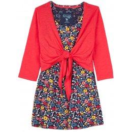 Frugi Floral Top and Tie Nursing Cardigan