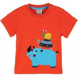Frugi Rhino & Friends Applique T-Shirt