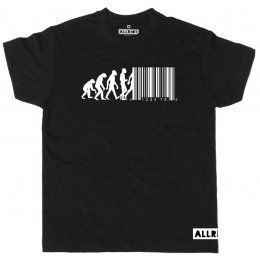All Riot Evolution Barcode Organic T-Shirt