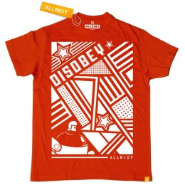 All Riot Disobey Organic T-Shirt - Red