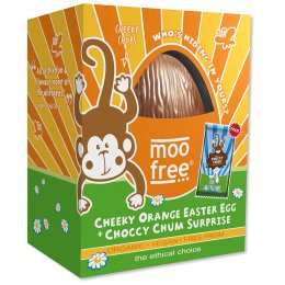 Moo Free Organic & Dairy Free Orange Chocolate Easter Egg - 120g