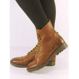 Wills London Womens Vegan Work Boots - Chestnut