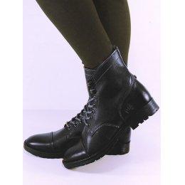 Wills London Womens Vegan Work Boots - Black