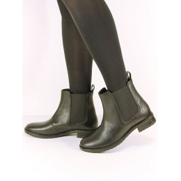 Wills London Womens Vegan Chelsea Boots - Black
