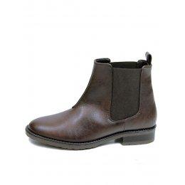 Wills London Womens Vegan Chelsea Boots - Brown