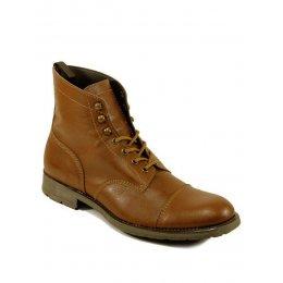 Wills London Mens Vegan Work Boots - Chestnut