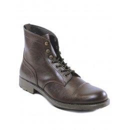 Wills London Mens Vegan Work Boots - Brown