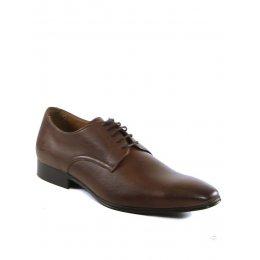 Wills London Mens Vegan Slim Sole Smart Shoes - Dark Brown