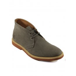 Wills London Mens Vegan Desert Boots - Grey