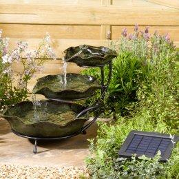 Smart Garden Ceramic Frog Cascading Fountain - Green