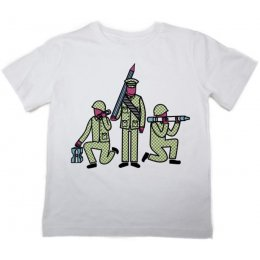 The Fableists Make Art Not War Organic Unisex T-Shirt - White