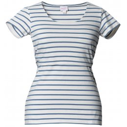 Boob Simone Maternity & Nursing Short Sleeve Top - Steel Blue