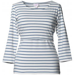 Boob Simone Maternity & Nursing 3/4 Sleeve Top - Steel Blue