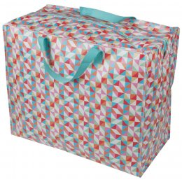 Recycled Jumbo Storage Bag Geometric