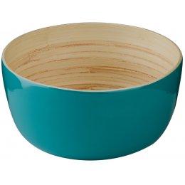 Kyoto Bamboo Salad Bowl - Turquoise