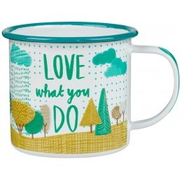 The Thoughtful Gardener 'Do What You Love' Enamel Mug