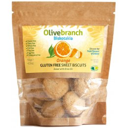 Olive Branch Gluten/Dairy Free Sweet Biscuits - Orange - 130g