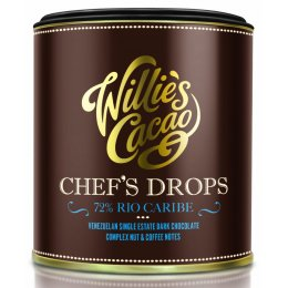 Willies Cacao Venezuelan Chefs Drops Cooking Chocolate - 72 percent  Rio Caribe - 150g