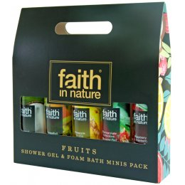 Faith in Nature Shower Gel & Bath Foam Minis Gift Pack - Fruits test