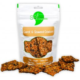Saf Express Raw Carrot & Seaweed Crackers - 80g
