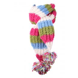 Girls Verbier Knitted Scarf - Rose