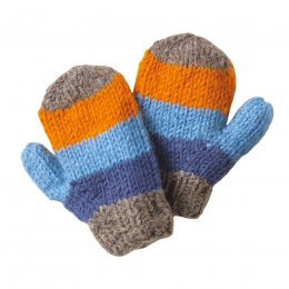 Boys Verbier Knitted Mittens - Grey