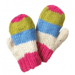 Girls Verbier Knitted Mittens - Rose