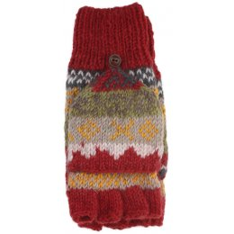 Finisterre Knitted Glove/Mittens - Rust