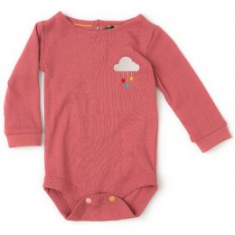 Pointelle Baby Body - Sunset Pink