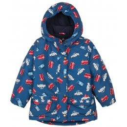 Frugi Recycled Little Adventure Coat - Cars