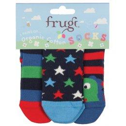 Frugi Little 3 Pack Socks - Dino test