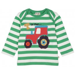 Frugi Bobby Applique Top - Tractor test