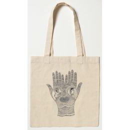 Hamsa Hand Cotton Shopping Bag