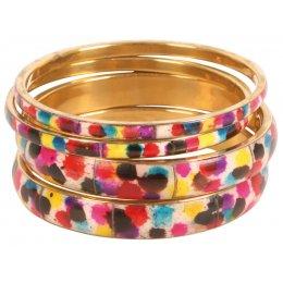 Multicoloured Bangles - Set of 4