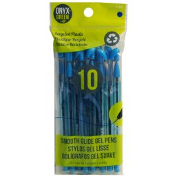 Recycled Smooth Glide Gel Pens - 10 Pack - Blue Ink