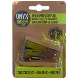 Mini Bamboo Stapler- Includes 1000 staples