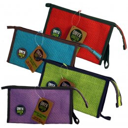 100 percent  Jute Pencil Case With Gusset