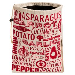 Vegetable Preserving Bag - Red & Natural