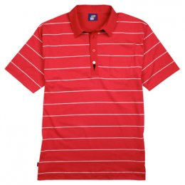 Striped Jack Polo Shirt - Lava