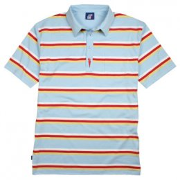 Striped Arnie Polo Shirt - Sky