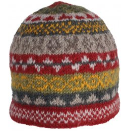 Finsterre Knitted Beanie Hat - Rust