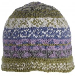 Finsterre Knitted Beanie Hat - Olive