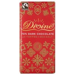 Divine Limited Edition Dark Chocolate with Toffee & Sea Salt - 100g test