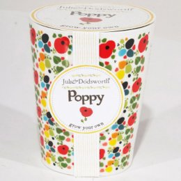 Julie Dodsworth Grow Your Own Ceramic Planter - Poppy
